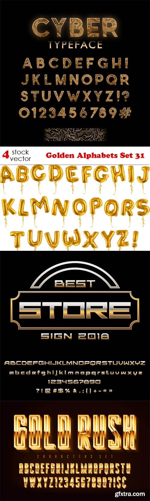 Vectors - Golden Alphabets Set 31