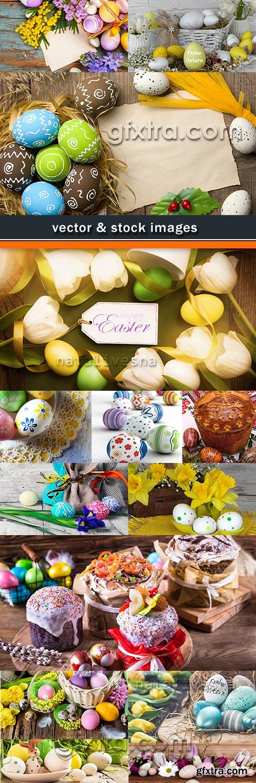Happy Easter decorative registration flowers and egg