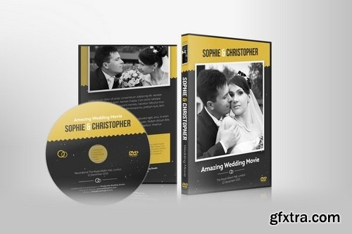 Wedding DVD Cover with Disc Label Set