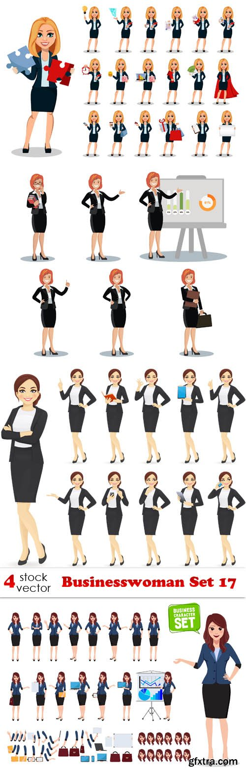 Vectors - Businesswoman Set 17