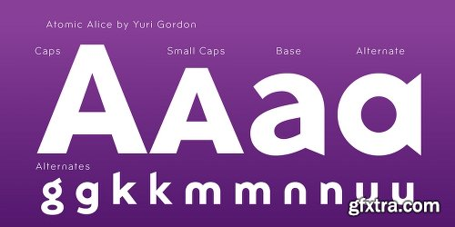 Atomic Alice Font Family - 10 Fonts[
