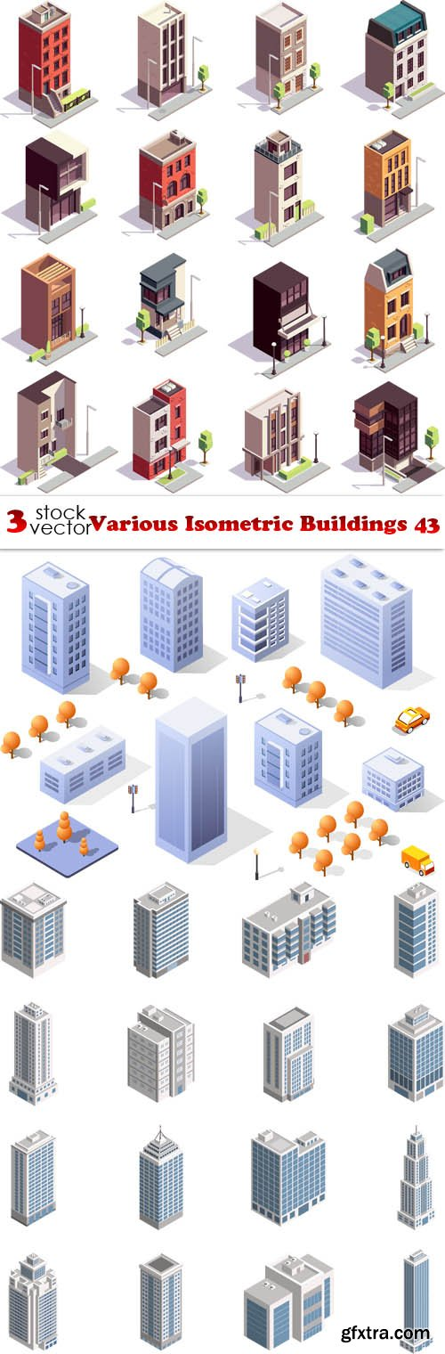 Vectors - Various Isometric Buildings 43