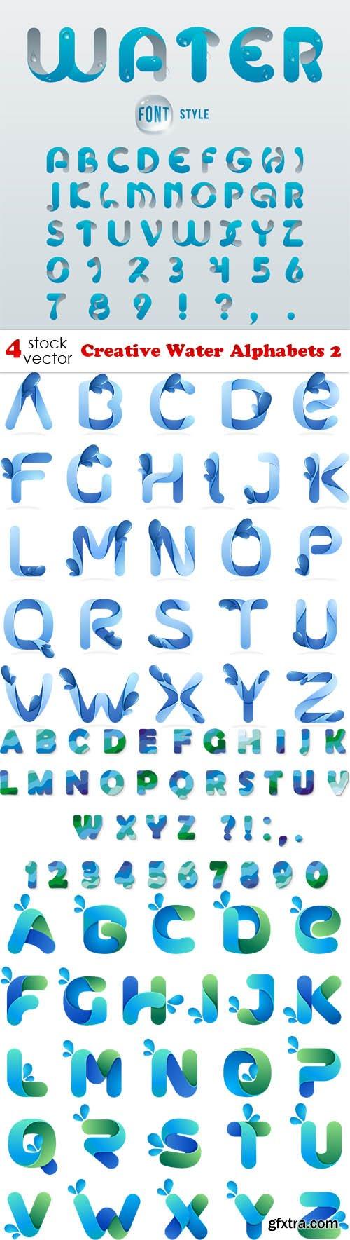 Vectors - Creative Water Alphabets 2