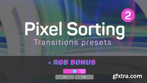 MotionArray Pixel Sorting Transitions Presets 2 Premiere Pro Presets 204944