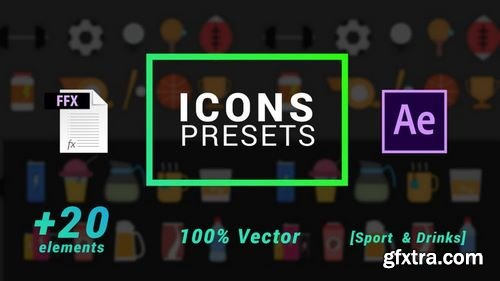 MotionArray Icons Presets - Sports And Drinks - After Effects Presets 203633