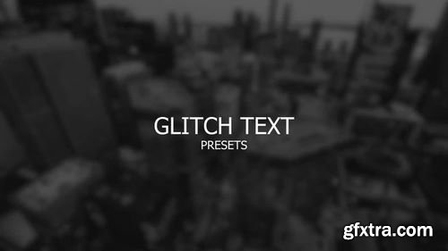 MotionArray Glitch Text After Effects Presets 200449
