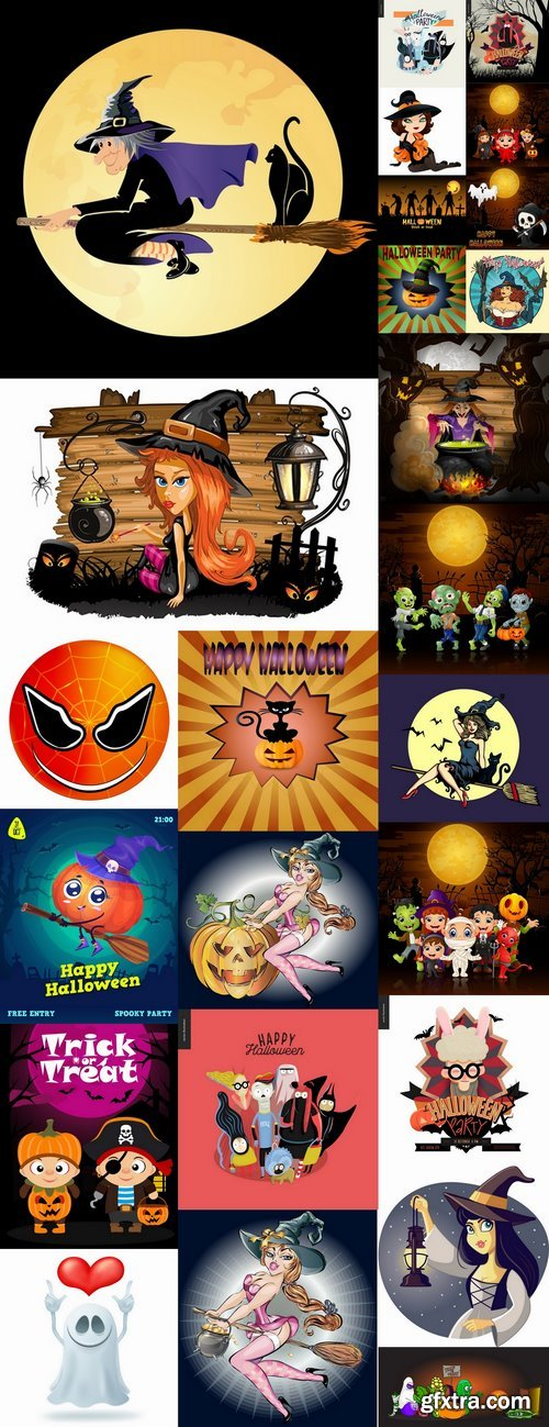Cartoon halloween costume thanksgiving day vector image 25 EPS