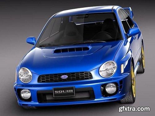 Subaru Impreza STI 2001 3D Model