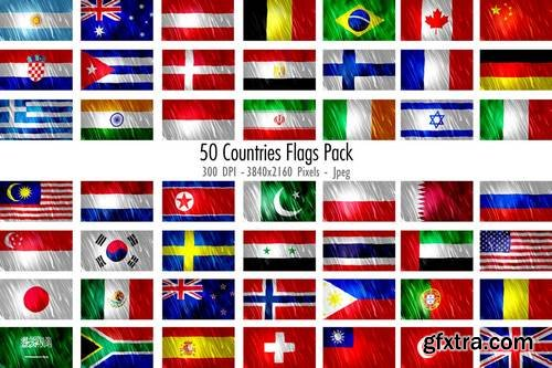 50 Countries Flags Pack