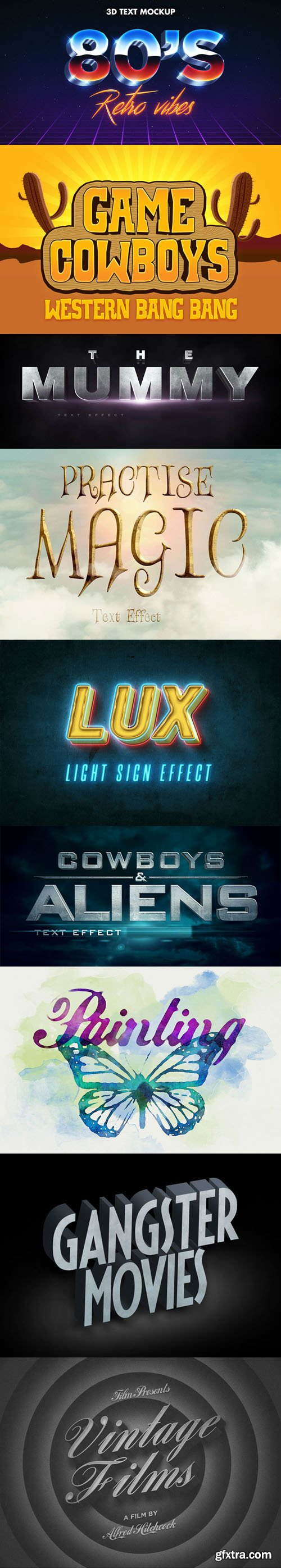 9 Awesome Photoshop Text Effects