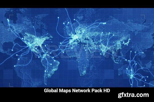 Pack Global Maps Network Motion Graphics