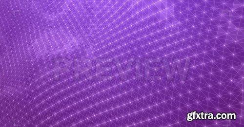 Purple Plexus Stars Motion Graphics
