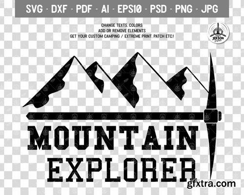 Mountain Logo Retro Adventure Label Templates