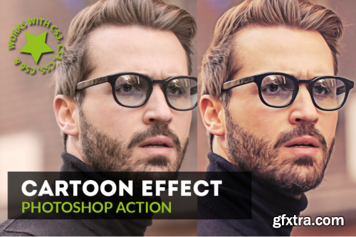 Cartoon Effect Photoshop Action