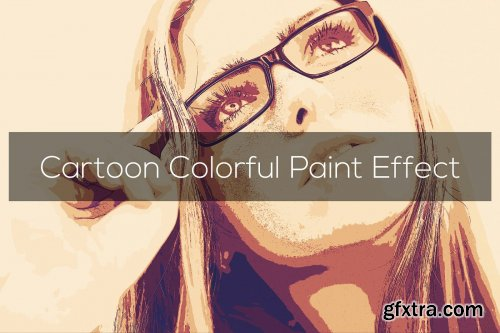 CreativeMarket - Cartoon Colorful Paint Effect 3301359