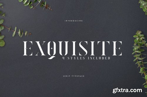 CreativeMarket - Exquisite - Serif Typeface 4 Styles 3576691
