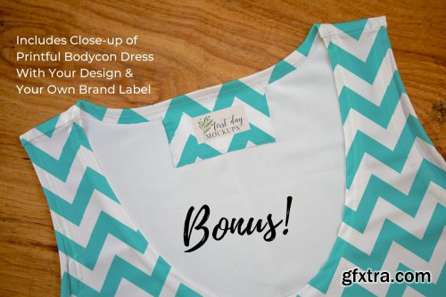 CreativeMarket - Bodycob Dress Mockup 2 3579687
