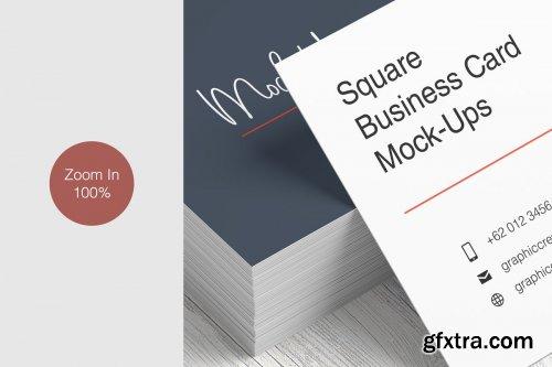 CreativeMarket - Square Business Card Mockup 3562425