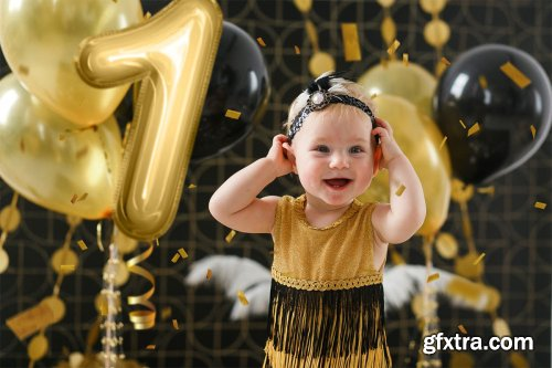 CreativeMarket - Foil Number Balloons Photo Overlays 3569025
