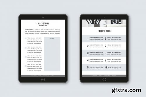 CreativeMarket - eCourse Workbook Template 3584111