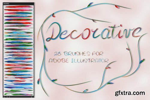 CreativeMarket - Decorative Brushes for Illustrator 3591365