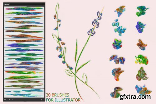 CreativeMarket - Nature Brushes for Illustrator 3592451