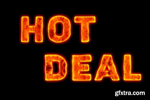 CreativeMarket - Fire Text Effect Photoshop Action 3594709 » GFxtra