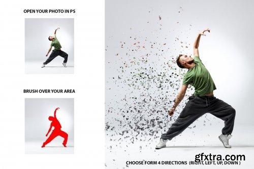 CreativeMarket - Broken Dispersion Photoshop Action 3600977