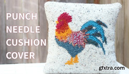 How To Make a Punch Needle Cushion - Rooster