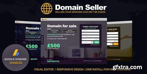 ThemeForest - Domain Seller v1.0 - Domain For Sale PHP Landing Page - 22592985