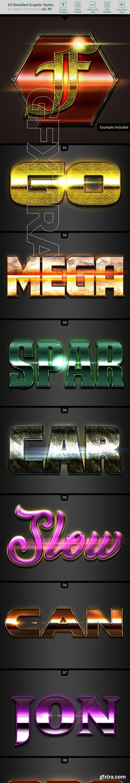 GraphicRiver - 10 Text Effects Vol 40 23504095