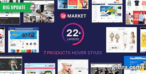 ThemeForest - Market v5.0.2 - Premium Responsive Magento 2 and 1.9 Store Theme with Mobile-Specific Layout (22 HomePages) - 8945695