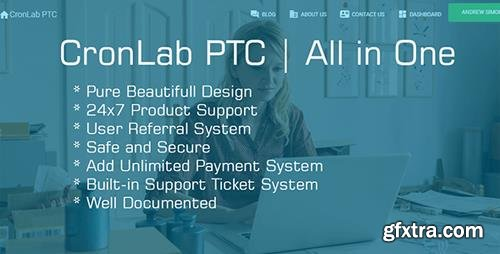 CodeCanyon - CronLab PTC v3.0 - All in One Script for PTC, HyIp, Crypto Trade & Money Investment - 21102891
