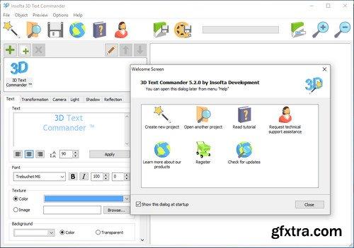 Insofta 3D Text Commander 5.6.0 Multilingual Portable