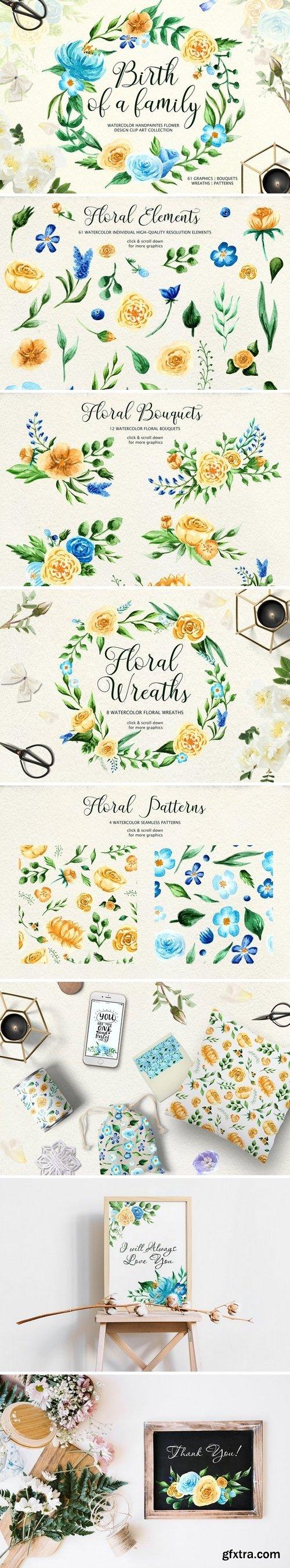 CM - Birth of Watercolor Flower Set 1929933