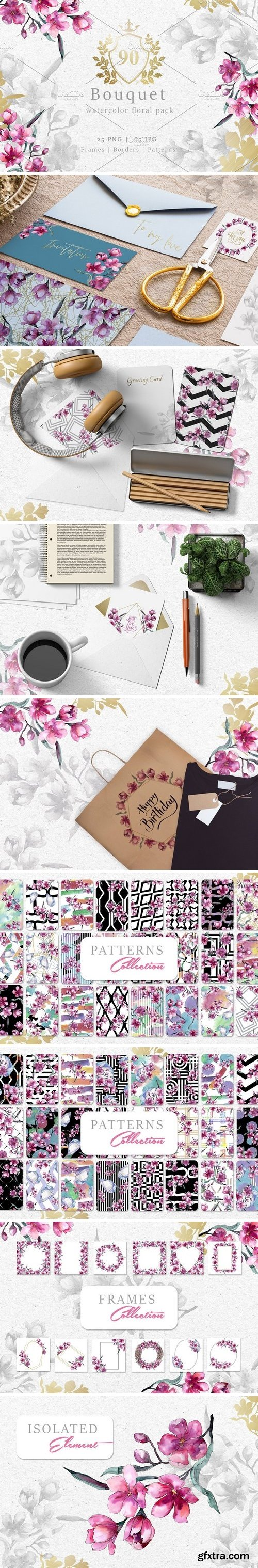 CM - Bouquet of pink flower PNG pack 3058823