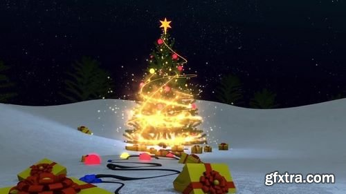 MotionArray Christmas Magic Logo 207259