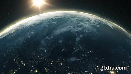 MotionArray Beautiful Sunrise Over Planet Earth 205946