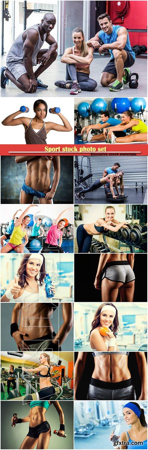 Sport stock photo set