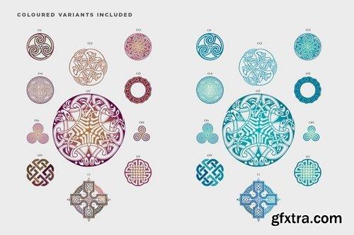 Celtic patterns vector bundle