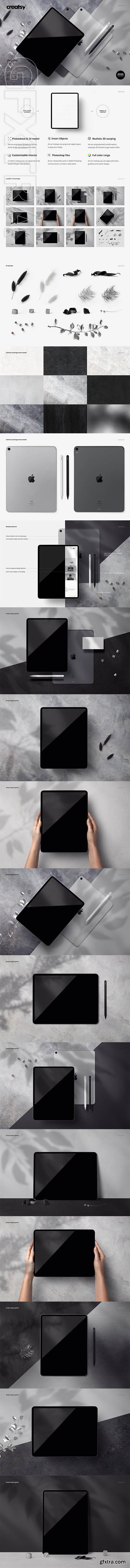 CreativeMarket - iPad Pro Mockup Set 3584628 » GFxtra