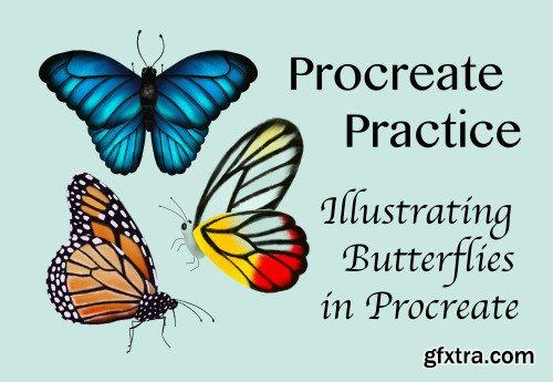 Procreate Practice: Drawing Butterflies in Procreate