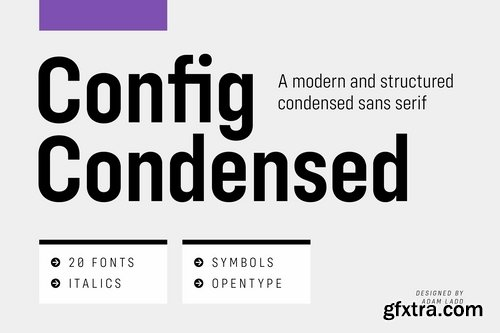 CM - Config Condensed Font Family 3665501
