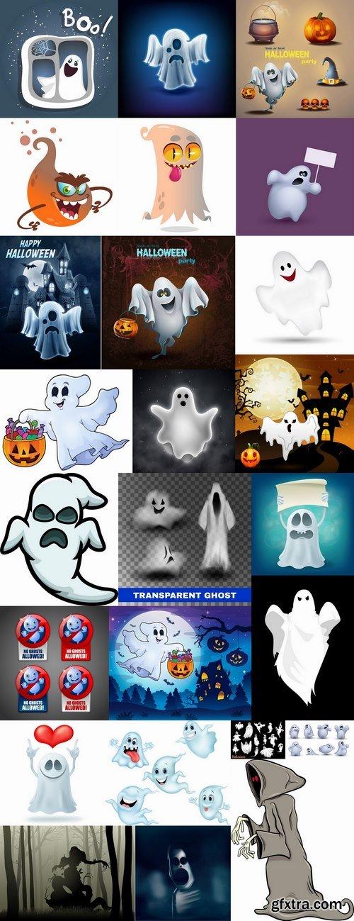 Halloween ghost phantom vector image 25 EPS