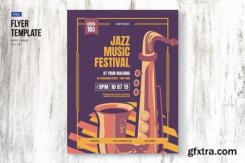 Jazz Music Event Festival Flyer