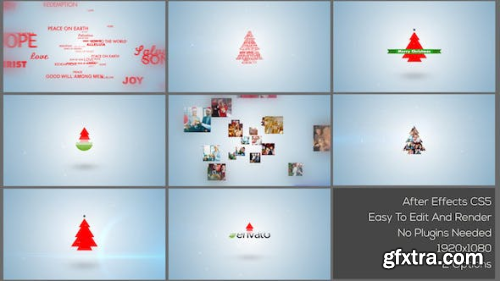Videohive Typo & Video Christmas Logo Intro 13885736