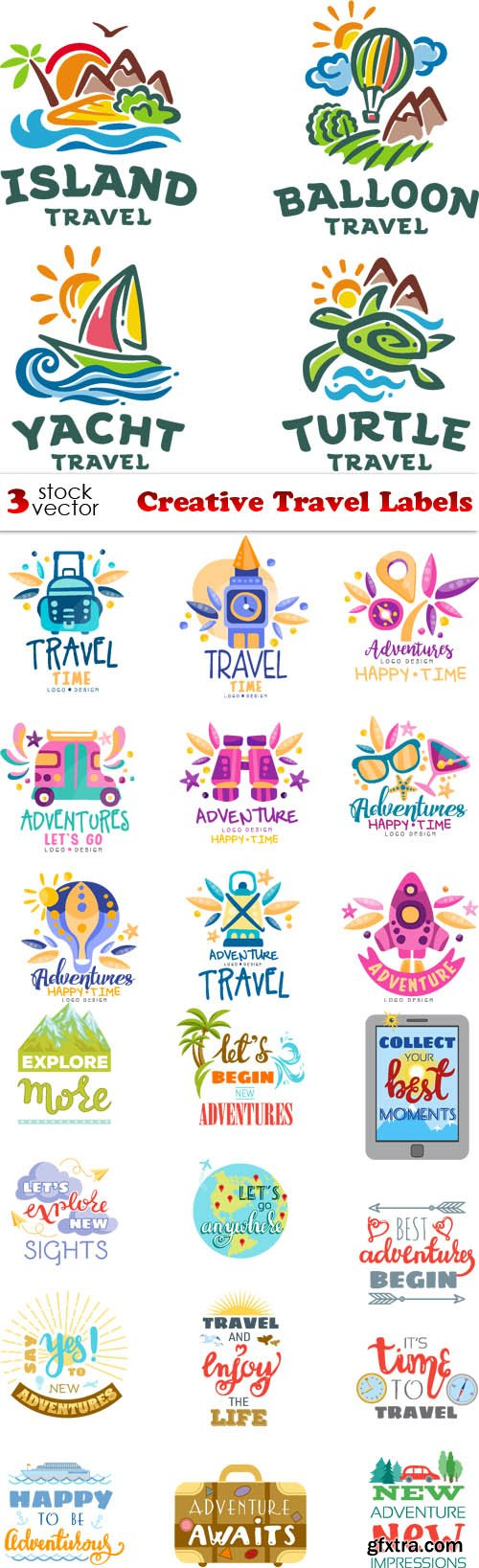 Vectors - Creative Travel Labels