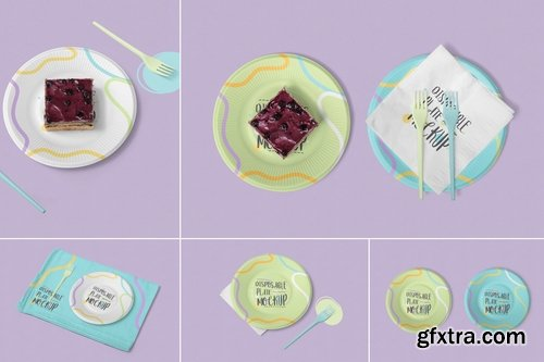 Disposable Plate Mockups