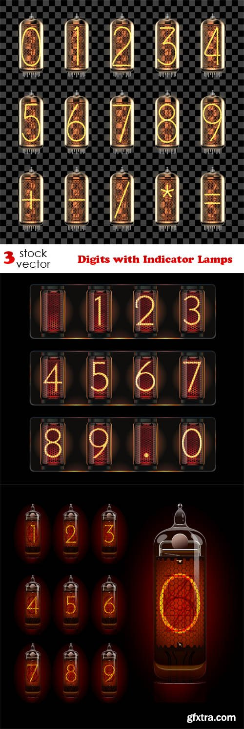 Vectors - Digits with Indicator Lamps