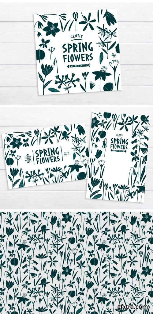 CM - Spring Flowers Vector Collection 3545067